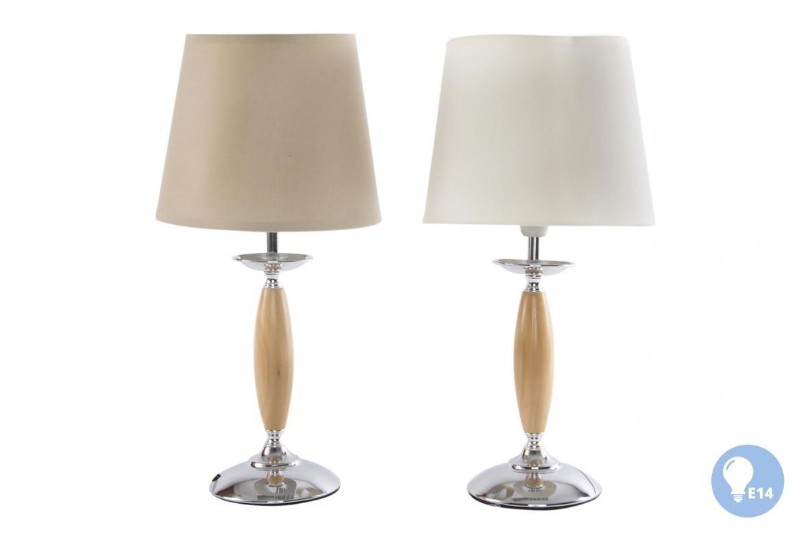 Plafoniere Moderne In Tessuto : Lampada appoggio lume da camera soggiorno in legno e metallo