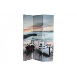 Paravento Separe' Divisorio Immagine Barche a Riva paesaggio marino