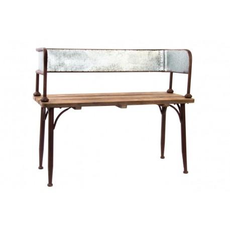 Panca divano ferro legno interno esterno panchetta for Divano legno esterno