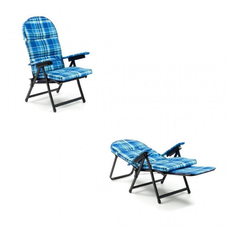 Sdraio Imbottita Con Poggiapiedi.Sedia Sdraio In Ferro Sdraio Con Prolunga Poltrona Anziani Sdraio