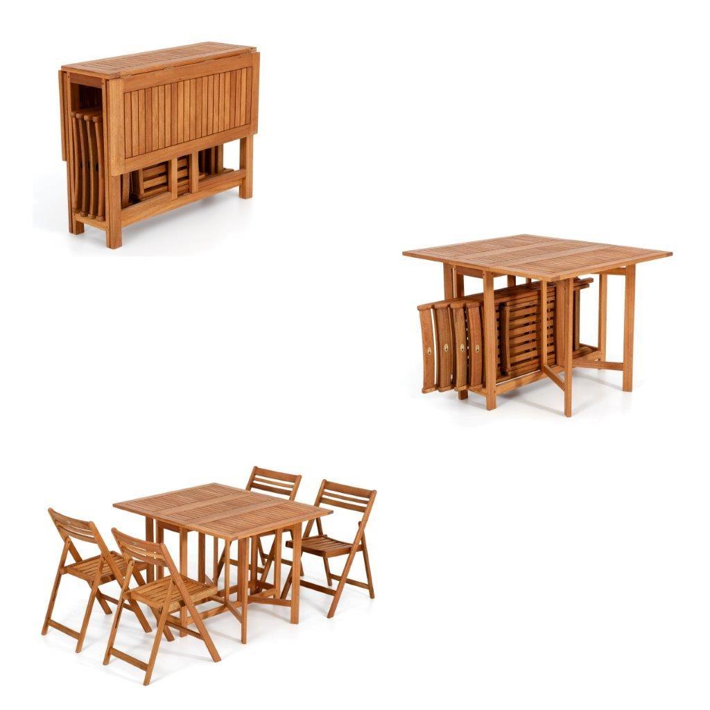 Tavoli Allungabili E Richiudibili.Tavolo Legno Giardino Tavolo Allungabile Sedie Pieghevole Set