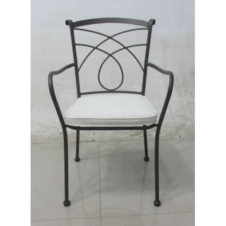 Sedia in ferro battuto poltrona sedie arredo giardino for Sedie giardino ferro