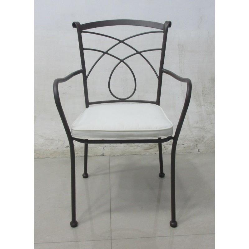 Sedie Per Giardino Ferro.Sedia In Ferro Battuto Poltrona Sedie Arredo Giardino Poltroncina