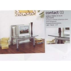 Porta televisore metallo e vetro porta tv mobile tv