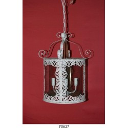 LAMPADARIO IN FERRO BATTUTO LAMPADA DESIGN DA ESTERNO ESTERNI LANTERNA