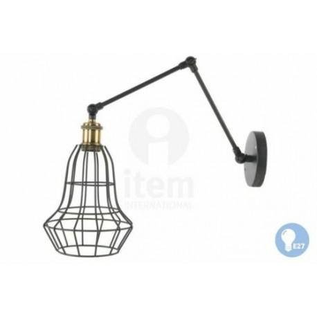 LAMPADA A PARETE LUME A MURO  LAMPADA STILE INDUSTRIAL APPLIQUE 1 LUCE LUMETTO