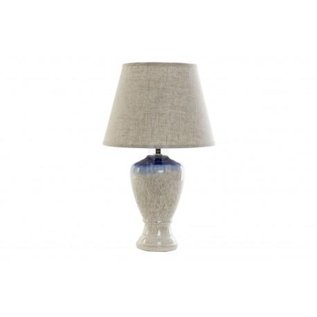 Lampada in porcellana gres azzurro