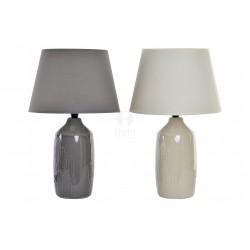 Lampada in ceramica da appoggio per arredamento camera soggiorno