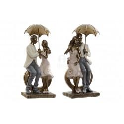 Fidanzati Coppia Figura in resina decorata soprammobile