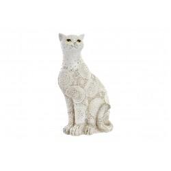 Gatto Figura in resina decorata decape '