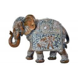Elefante Figura in resina decorata