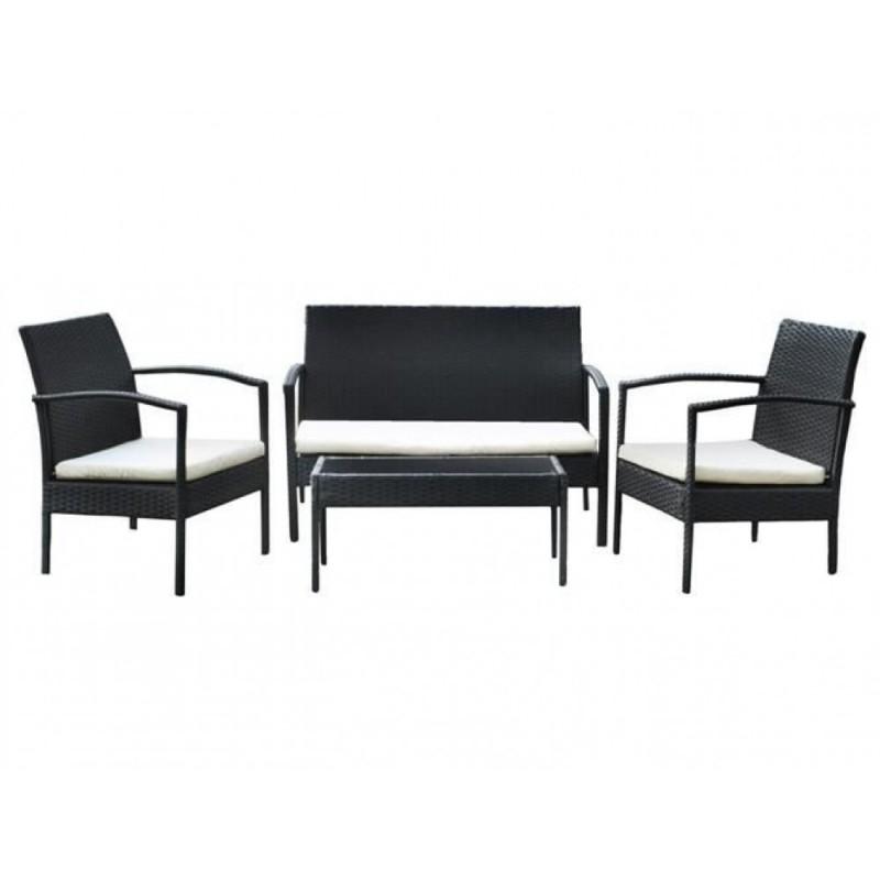 Set Giardino In Polyrattan.Salotto Giardino In Polyrattan Set Completo Con Tavolino Sofa Con