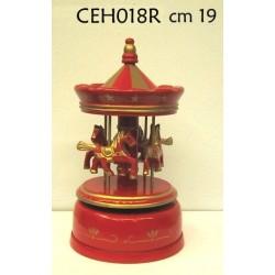 Carillon giostra cavalli soprammobile collezione