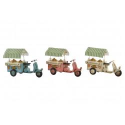Moto Carretto Gelati Modellino latta arredo collezione soprammobile