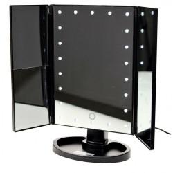 Specchio Trucco Touch Screen con LED 3 specchi e contenitore trucchi