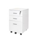 CASSETTIERA scrivania con chiave UFFICIO  IN LEGNO  3 CASSETTI con ruote per porta pc stampante fax