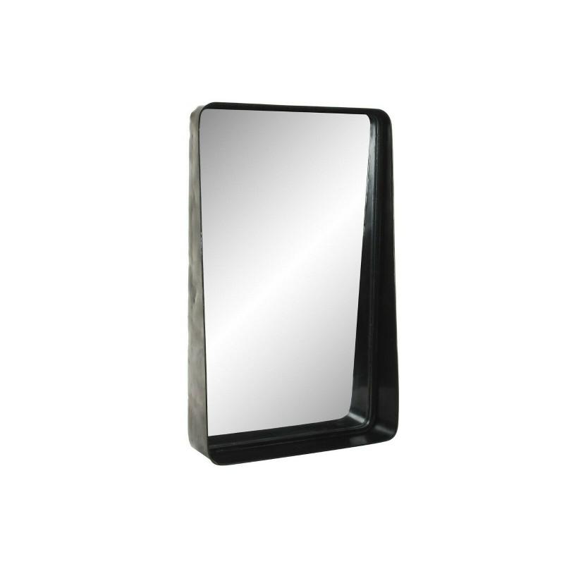 Specchio Bagno Con Mensola E Luce.Specchio A Muro Ingresso Bagno Con Cornice Mensola In Metallo Nero