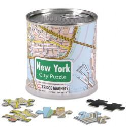 PUZZLE NEW YORK MAGNETICO 100 PEZZI IN BARATTOLO LATTA MAPPA URBANA IN INGLESE