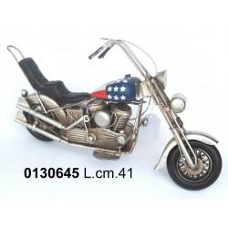 MOTO AMERICA MOTOCICLETTA IN LATTA MODELLINO IN METALLO SOPRAMMOBILE