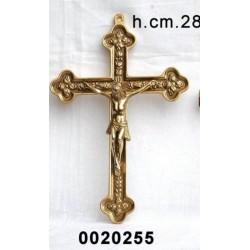 Croce Crocifisso a muro in bronzo Capoletto