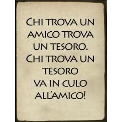 TARGA IN LATTA DETTI SIMPATICI ITALIANI PER CASE E LOCALI REGALO