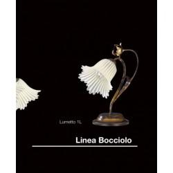 LUME IN FERRO BATTUTO LAMPADA CAMERA COMODINO ABATJOUR LUMETTO STILE CLASSICO
