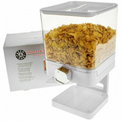 DISPENSER DOPPIO DISPENCER CEREALI CONTENITORE DISTRIBUTORE PORTA CARAMELLE