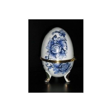 portagioie cameretta ragazze uovo faberge' mini in ceramica decorato regalo